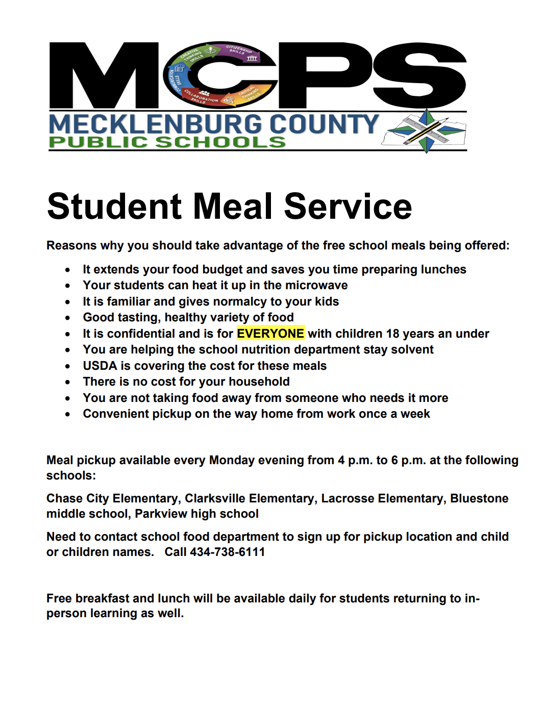 Student Meal Services FAQ