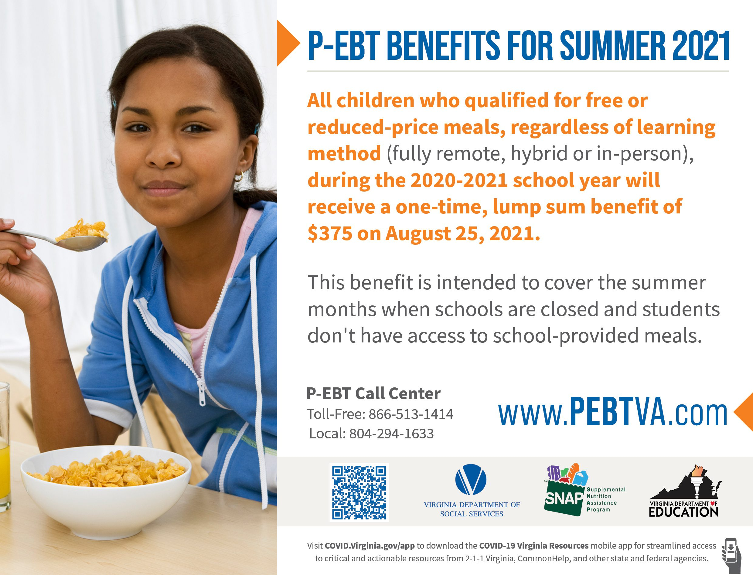 All Students will receive this PEBT benefit